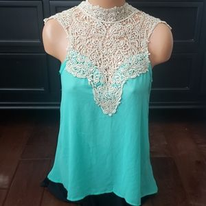Top with gold lace detail Size S